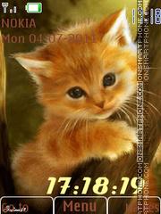Kitten Clock 01 theme screenshot