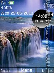 Скриншот темы Waterfall Clock