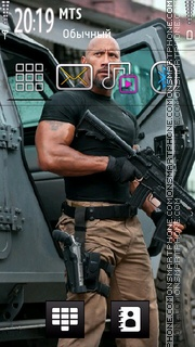 Dwayne Johnson tema screenshot