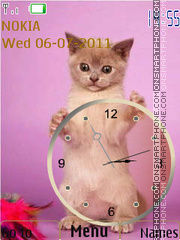 Cat and clock theme screenshot