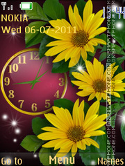 Bright Yellow flowers theme screenshot