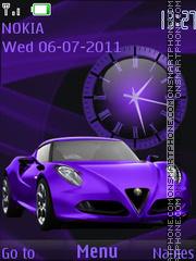 Скриншот темы Violet car