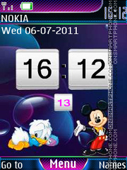 Cartoon Clock Animated tema screenshot