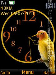 Parrot Clock 01 theme screenshot