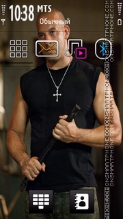 Vin Diesel 07 theme screenshot