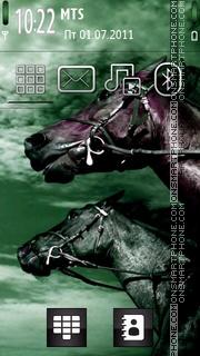 Green Horses tema screenshot