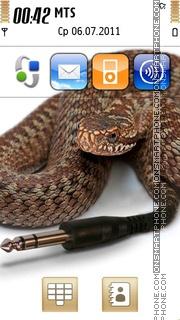 Funny Snake theme screenshot