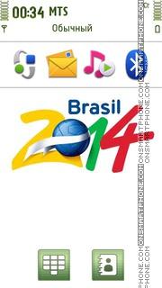 Brazil 2014 World Cup tema screenshot