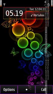 Rainbow Bubbles tema screenshot