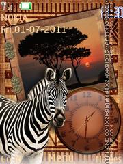 Скриншот темы Safari Clock 01