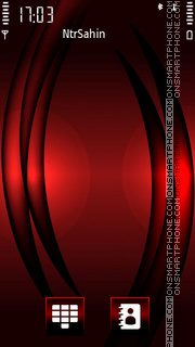 Red Black Waves theme screenshot