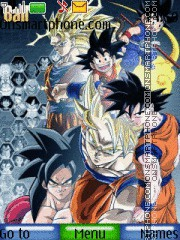 Скриншот темы The Legendary Goku