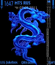 Скриншот темы Blue-Dragon