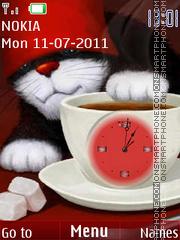 Cat and clock es el tema de pantalla