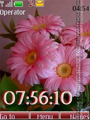 Gerbera swf tema screenshot