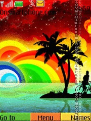 Rainbow Abstract 02 theme screenshot