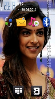 Deepika Padukone Cute theme screenshot