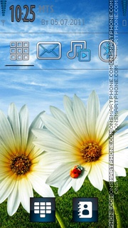 Beautiful Flowers 02 theme screenshot