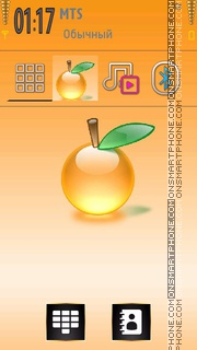 Crystal Orange theme screenshot