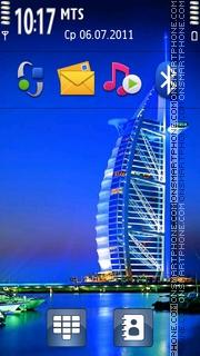 Dubai Night Life theme screenshot