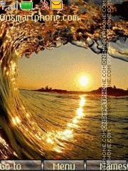 Golden Wave theme screenshot