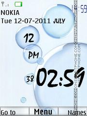 Water Drops Clock es el tema de pantalla