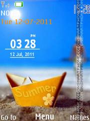Скриншот темы Summer Clock 01