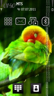 Love Bird 02 tema screenshot