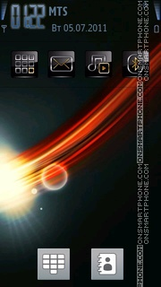 Abstract Space 01 theme screenshot