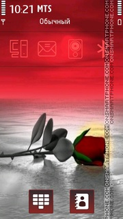 Red Rose 07 tema screenshot