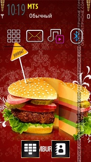 Red Burger theme screenshot