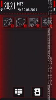 Excieder red 5800 by Peiwal theme screenshot