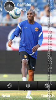 Ashley Young manchester united theme screenshot