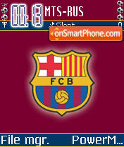FC Barcelona theme screenshot