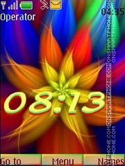 Rainbow fractal swf theme screenshot