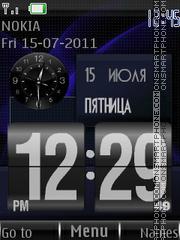 Flip Clock 121 theme screenshot