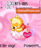 Animated Sleepy Pooh es el tema de pantalla