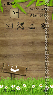 Wood theme screenshot