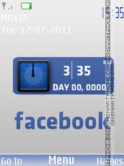 Dual Facebook Clock es el tema de pantalla