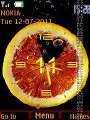 Fruit Clock theme screenshot