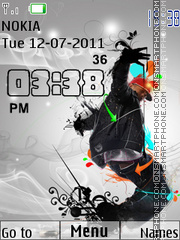 Hip-Hop Clock theme screenshot