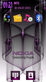 Nokia Purple Logo theme screenshot