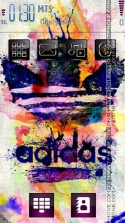 Colorful Adidas for Nokia theme screenshot