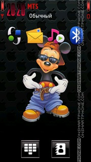 Cool mickey theme screenshot