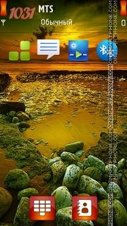 Sunset Sea tema screenshot