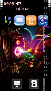 Dark Speakers tema screenshot