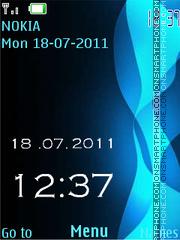 Blue swf theme screenshot