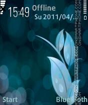 Blue flower es el tema de pantalla