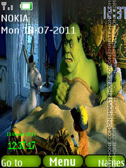 Shrek clock theme screenshot