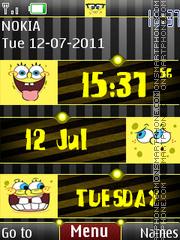 3d Spongebob Clock theme screenshot